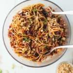 Sesame Noodle Salad in a bowl