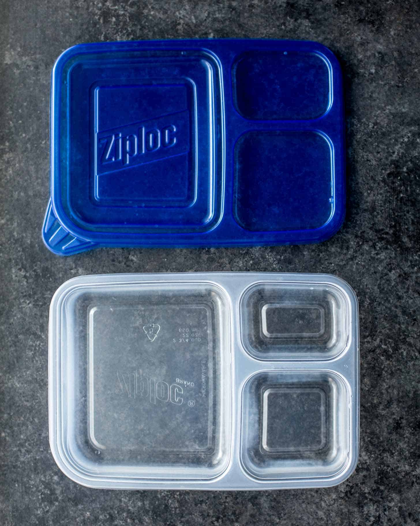 Ziploc Divided Rectangle Container - Lunch Box