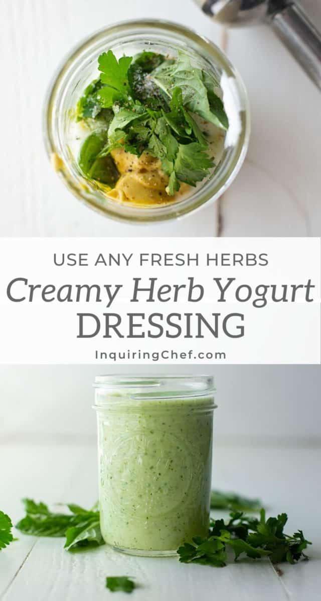 creamy herb yogurt dressing