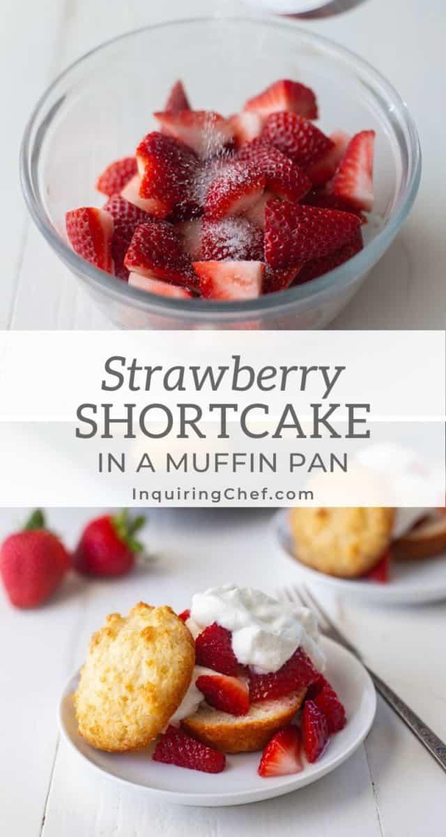 muffin pan strawberry shortcake