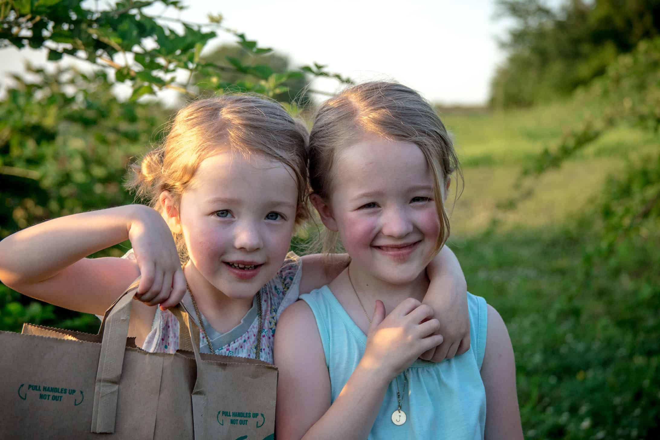 twins in blackberry field
