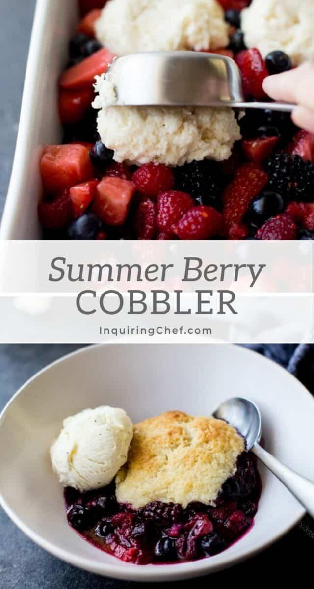 Simple Summer Berry Cobbler