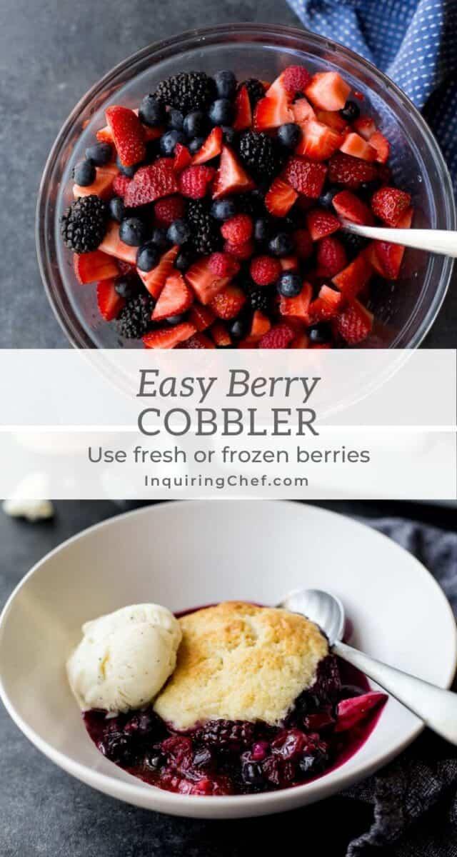 easy berry cobbler