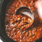 beef chili in the crock pot