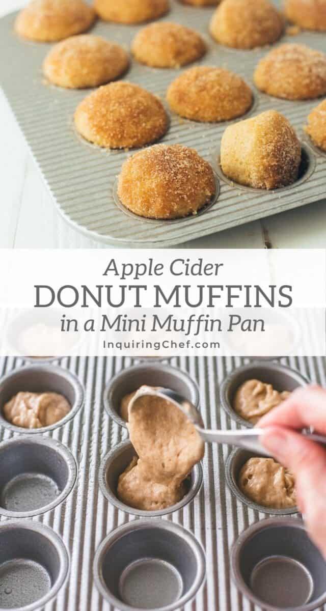 apple cider donut mini muffins
