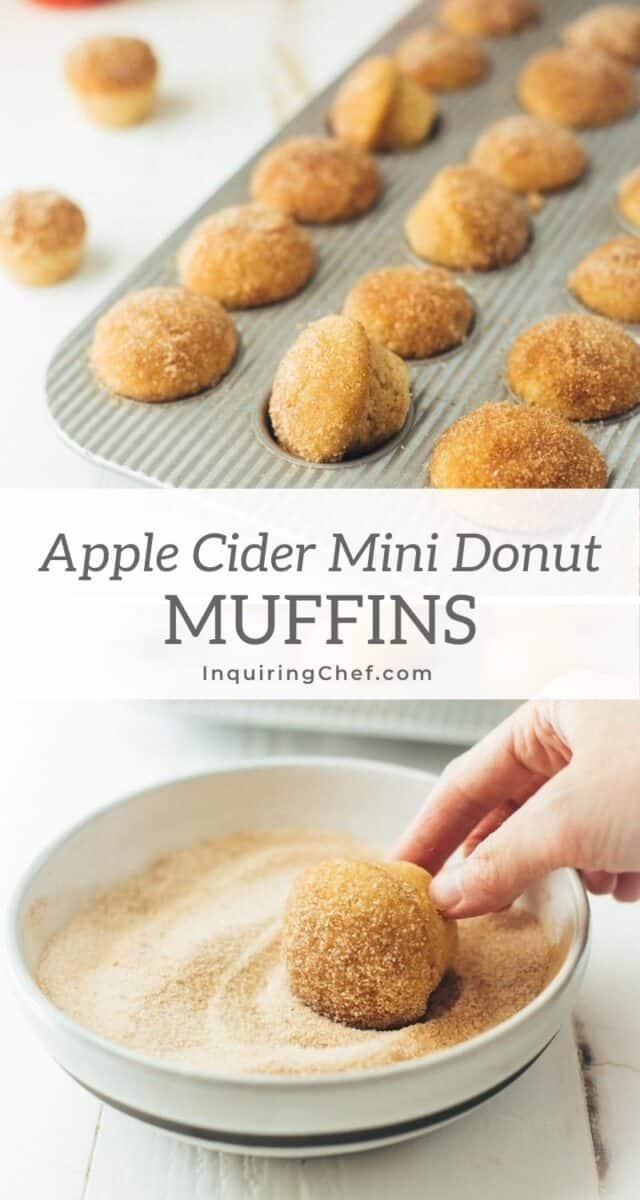 apple cider mini donut muffins