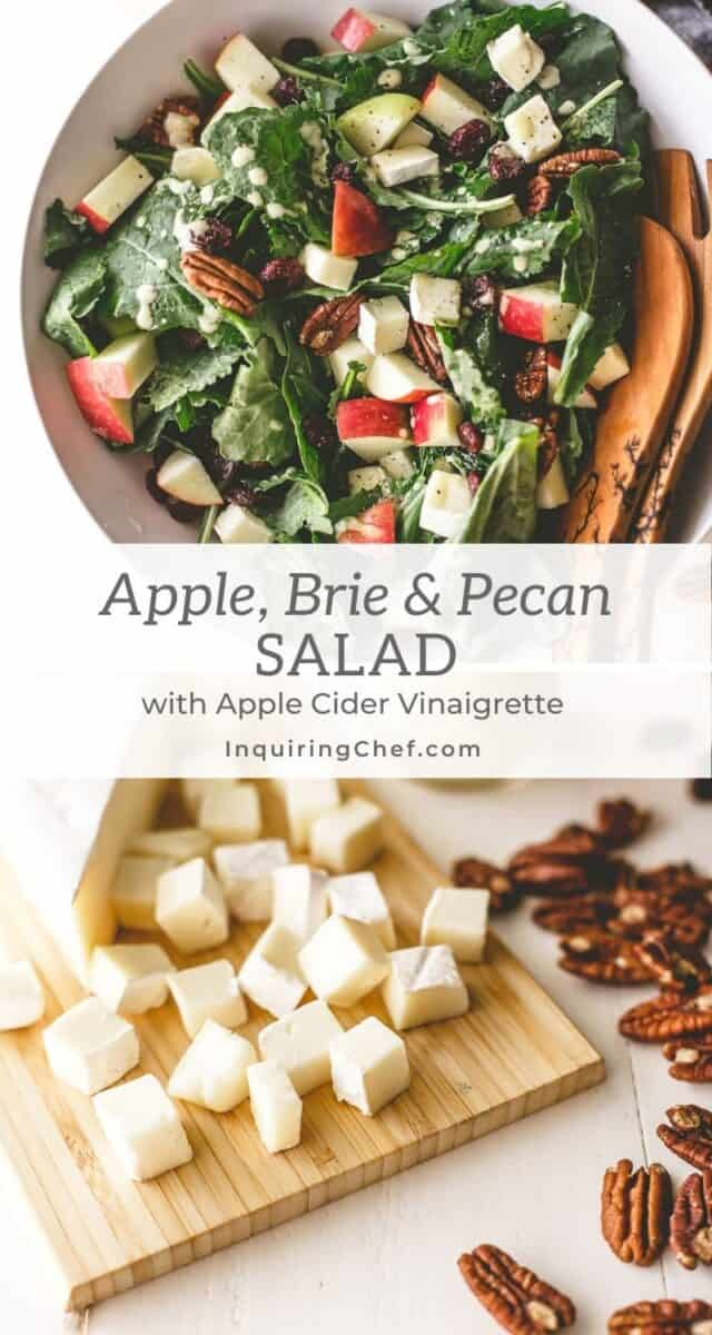 apple, brie and pecan salad