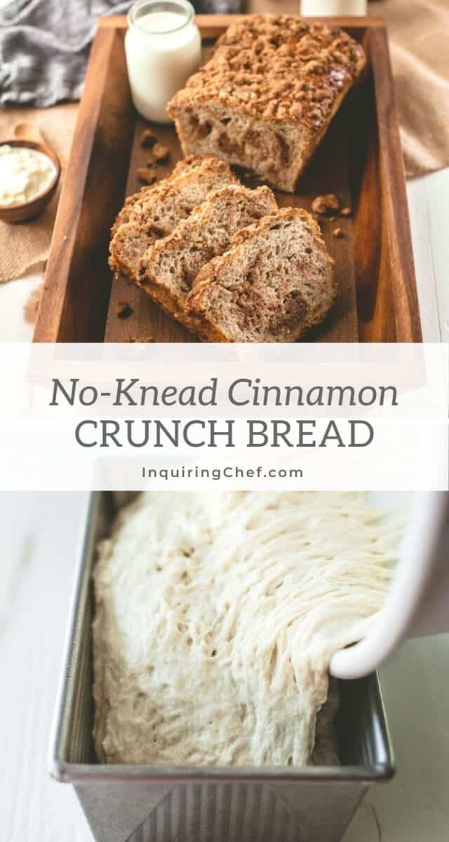 no knead cinnamon crunch bread