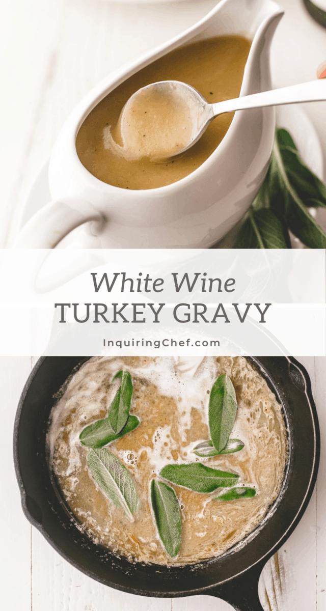white wine turkey gravy