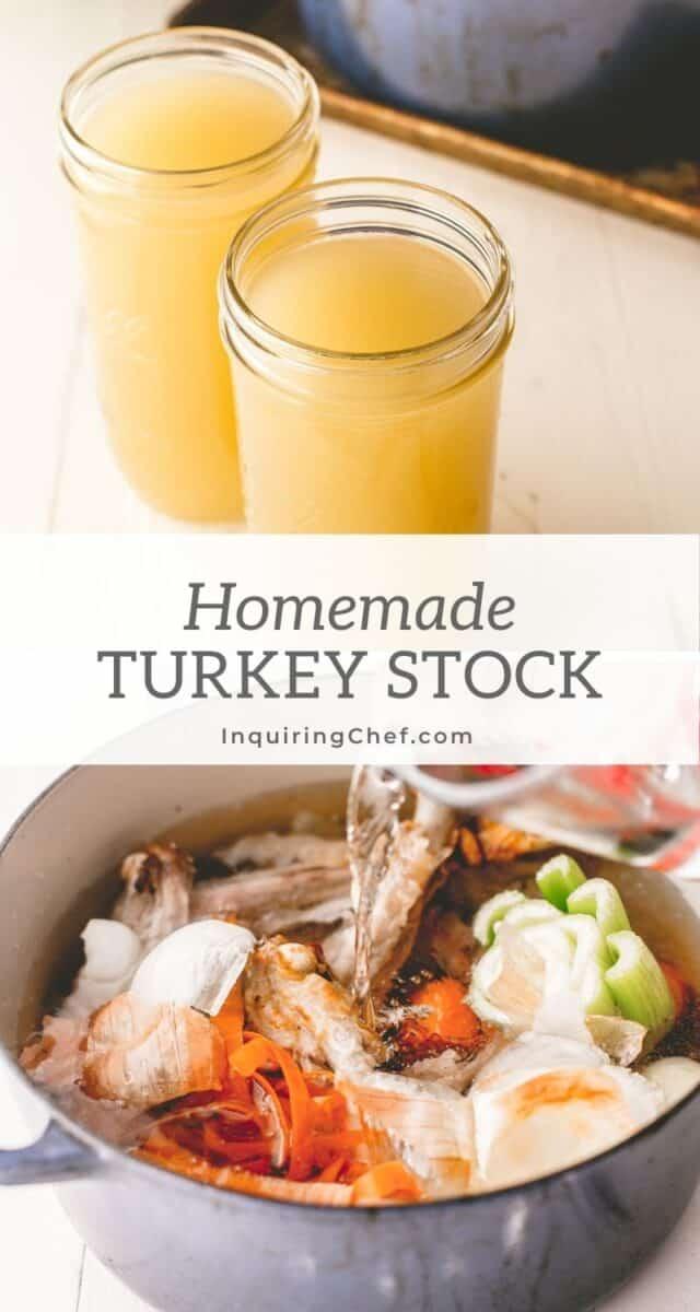 homemade turkey stock