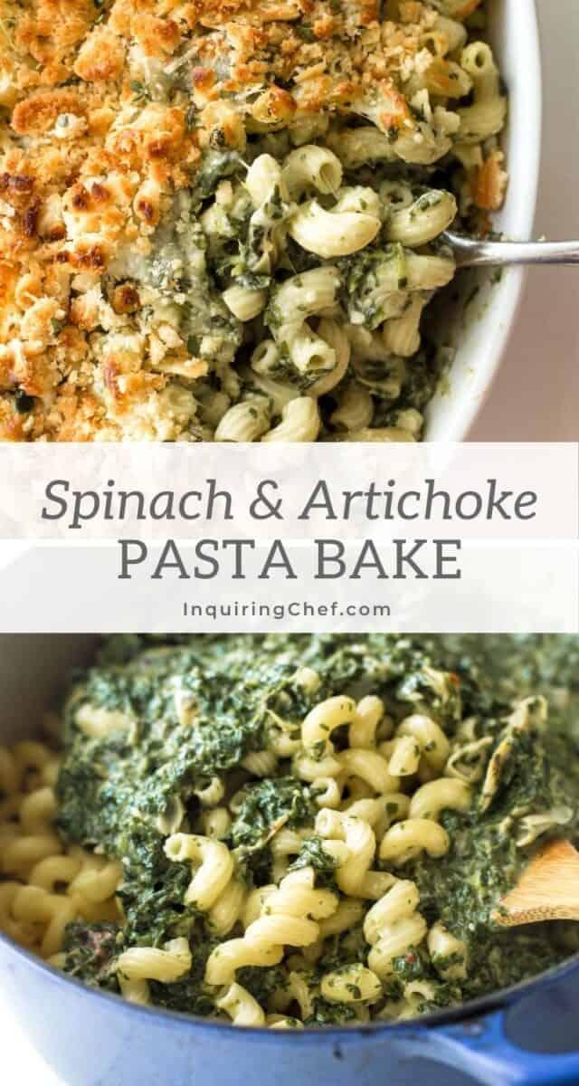 spinach and artichoke pasta bake