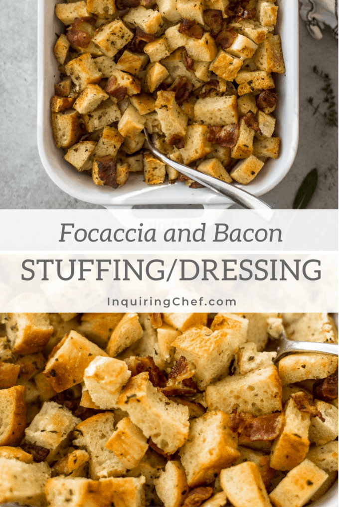 focaccia and bacon stuffing