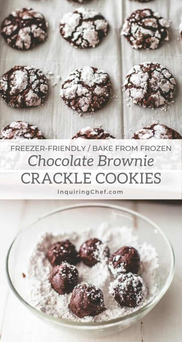 chocolate brownie crackle cookies