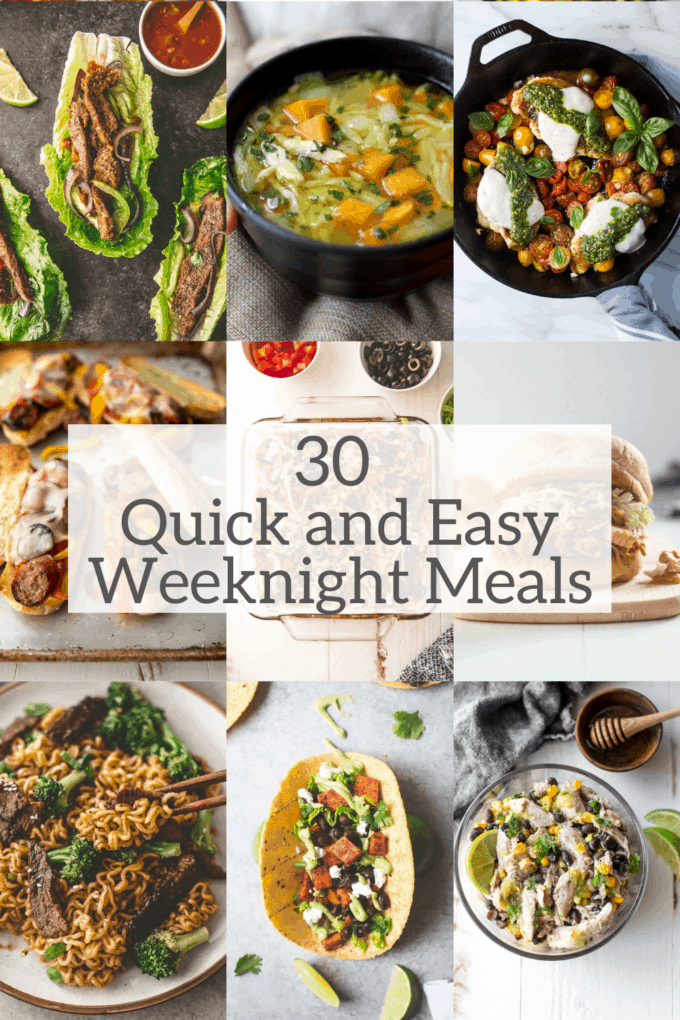 quick and easy weeknight meals