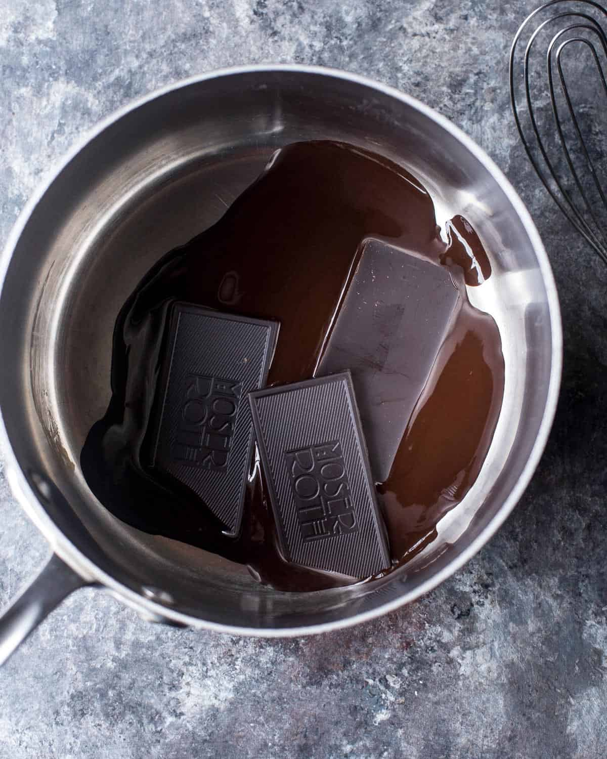 melting chocolate in a saucepan