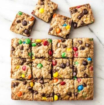chocolate chip oatmeal cookie bars