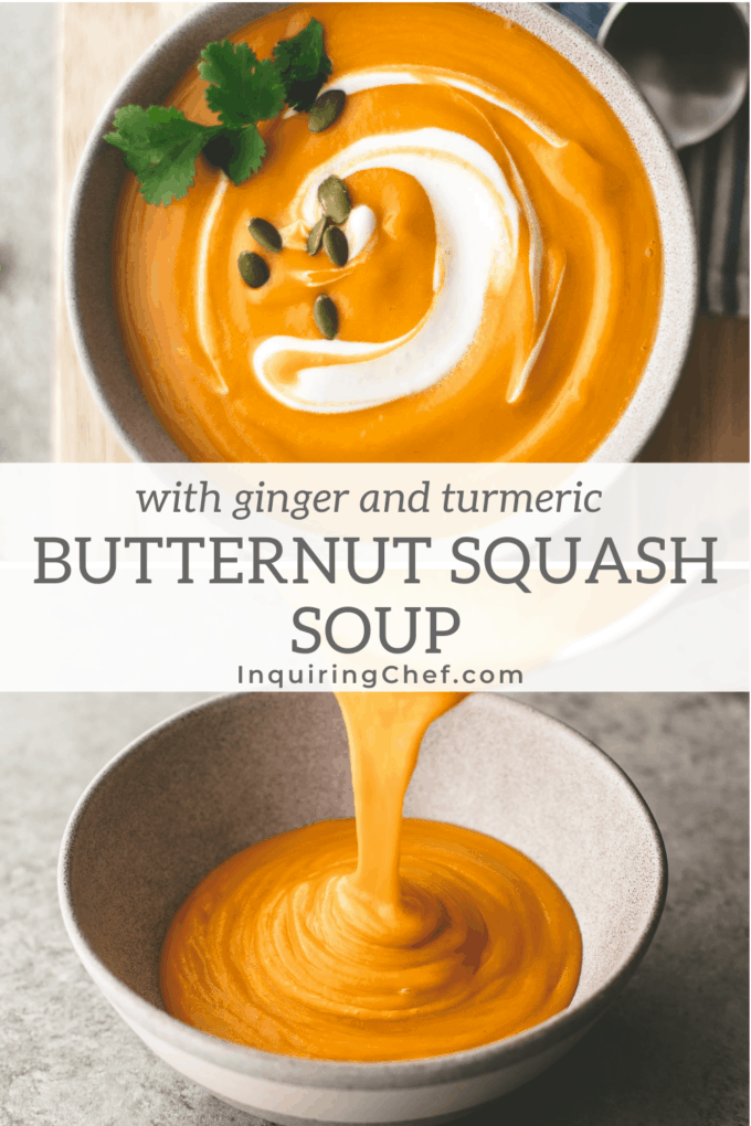 Butternut Squash Soup with Turmeric and Ginger