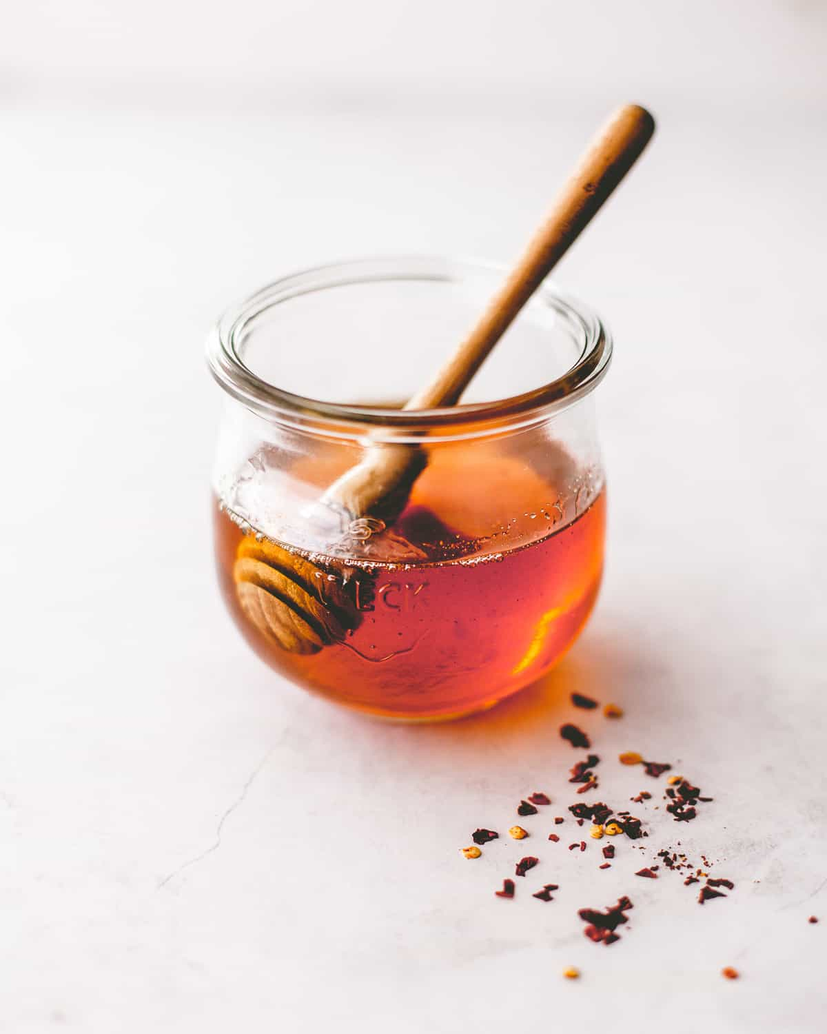 honey drizzle in a glass jar