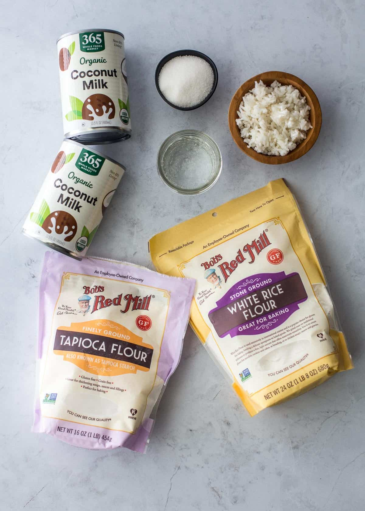 ingredients for coconut pancakes