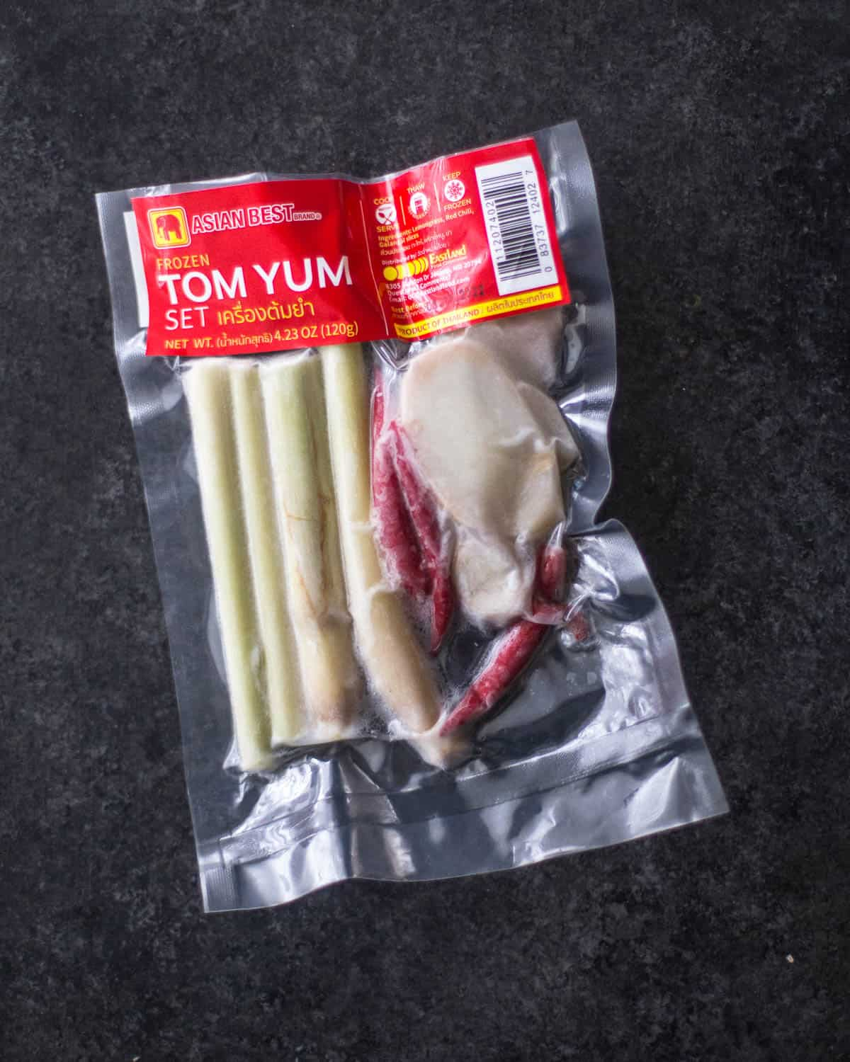 ingredients for Tom Yum Goong