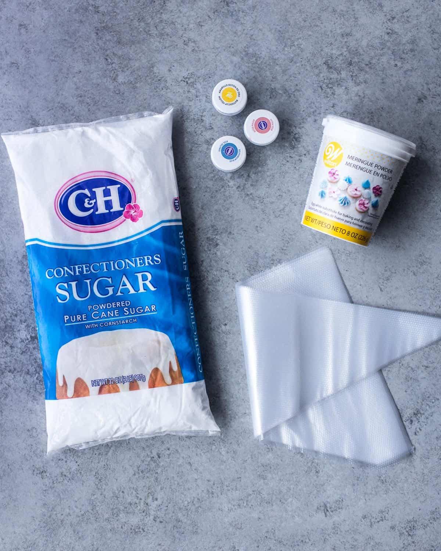 ingredients to make icing
