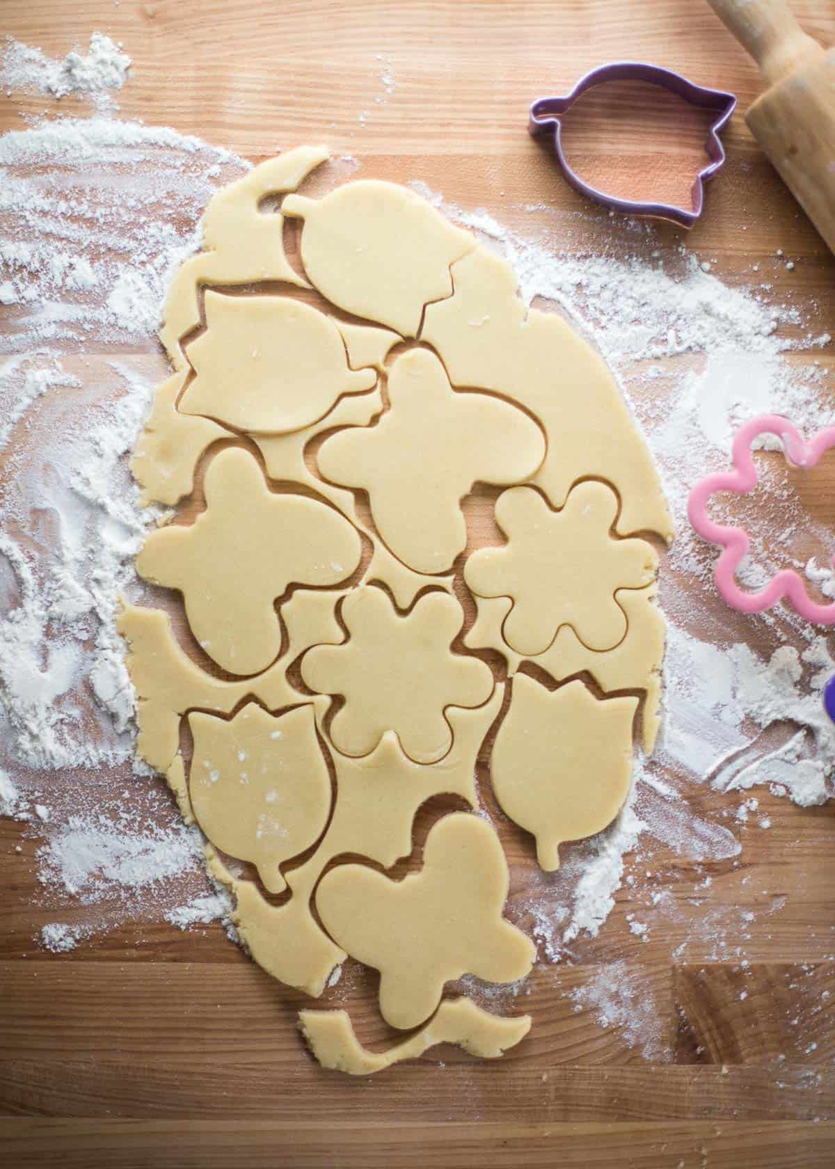 cutting out soft sugar cookies