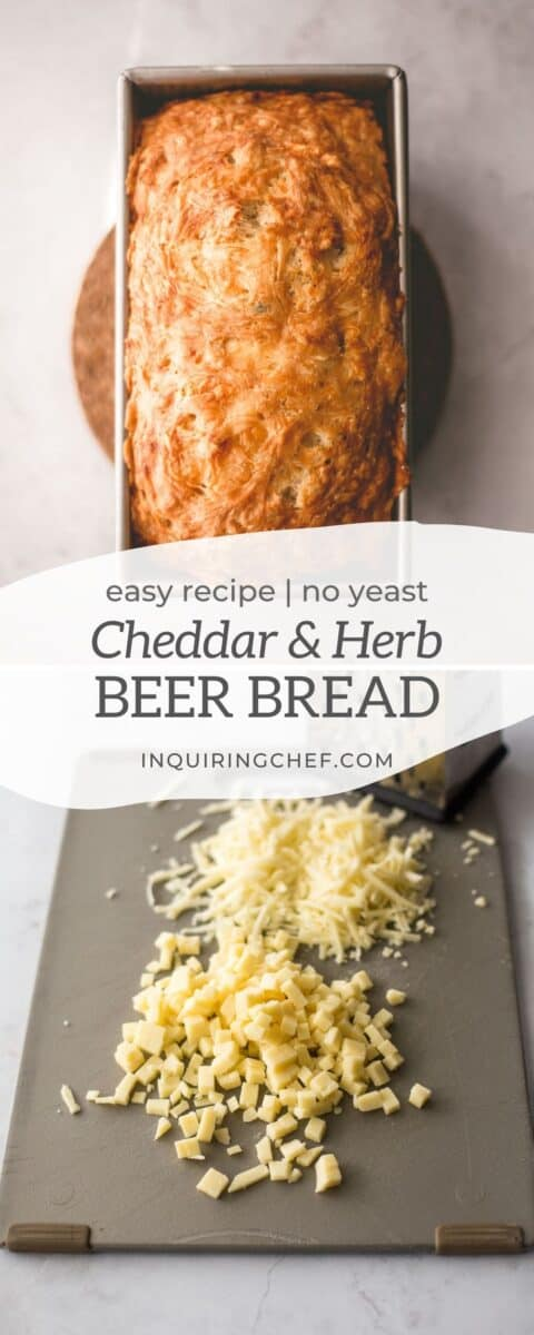 cheddar and herb beer bread