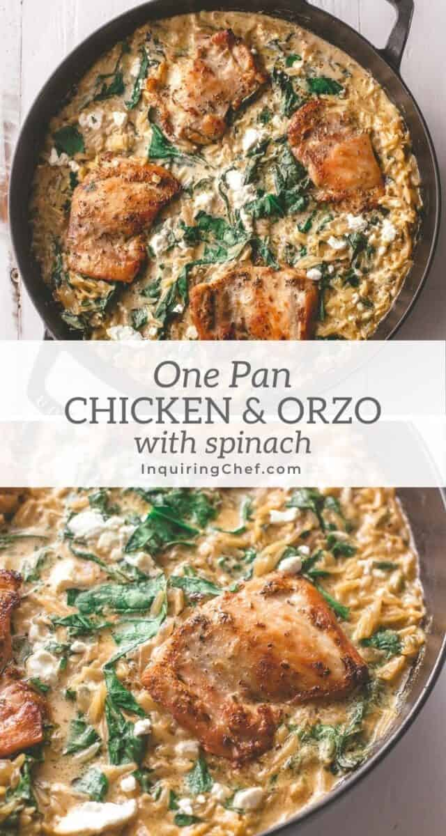one pan chicken and orzo