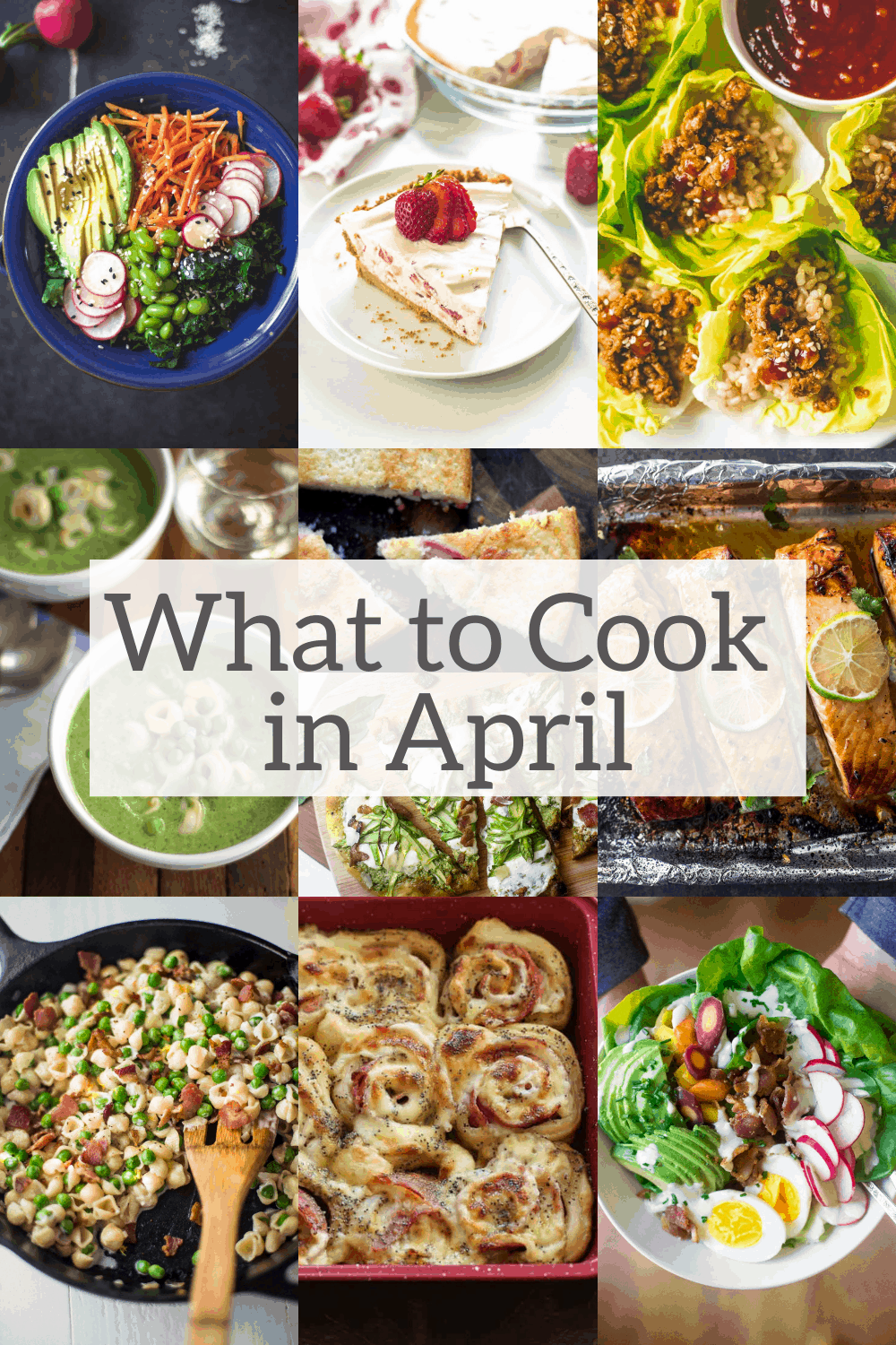 what to cook in april