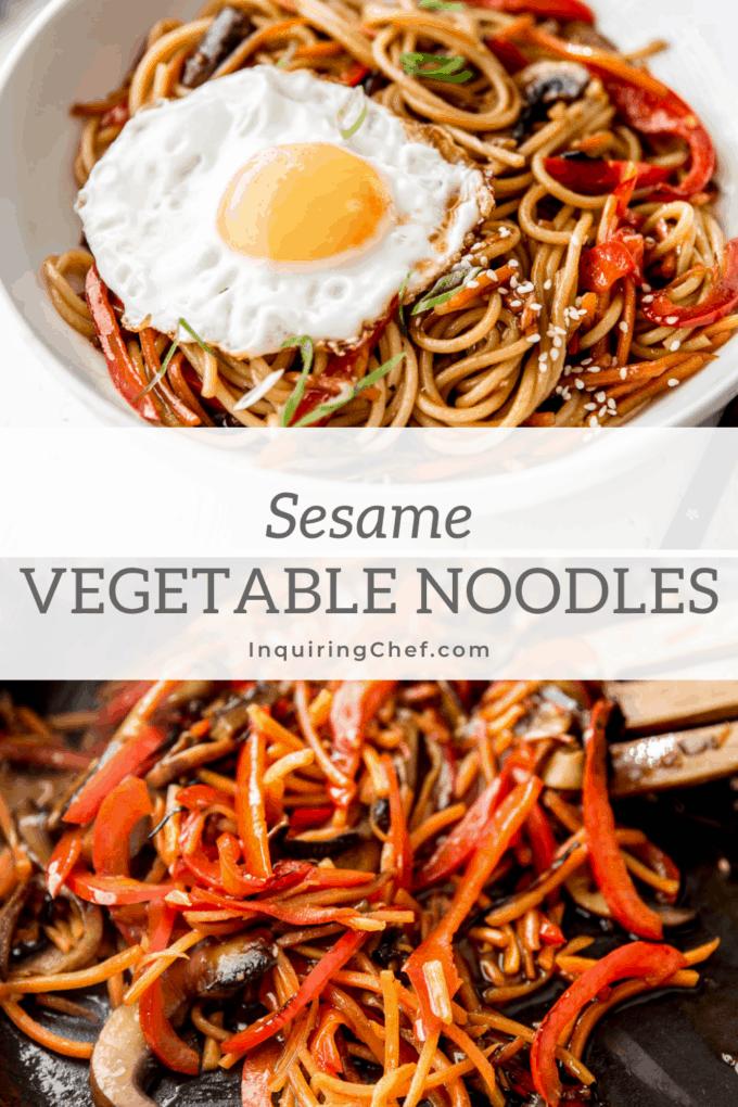 sesame vegetable noodles