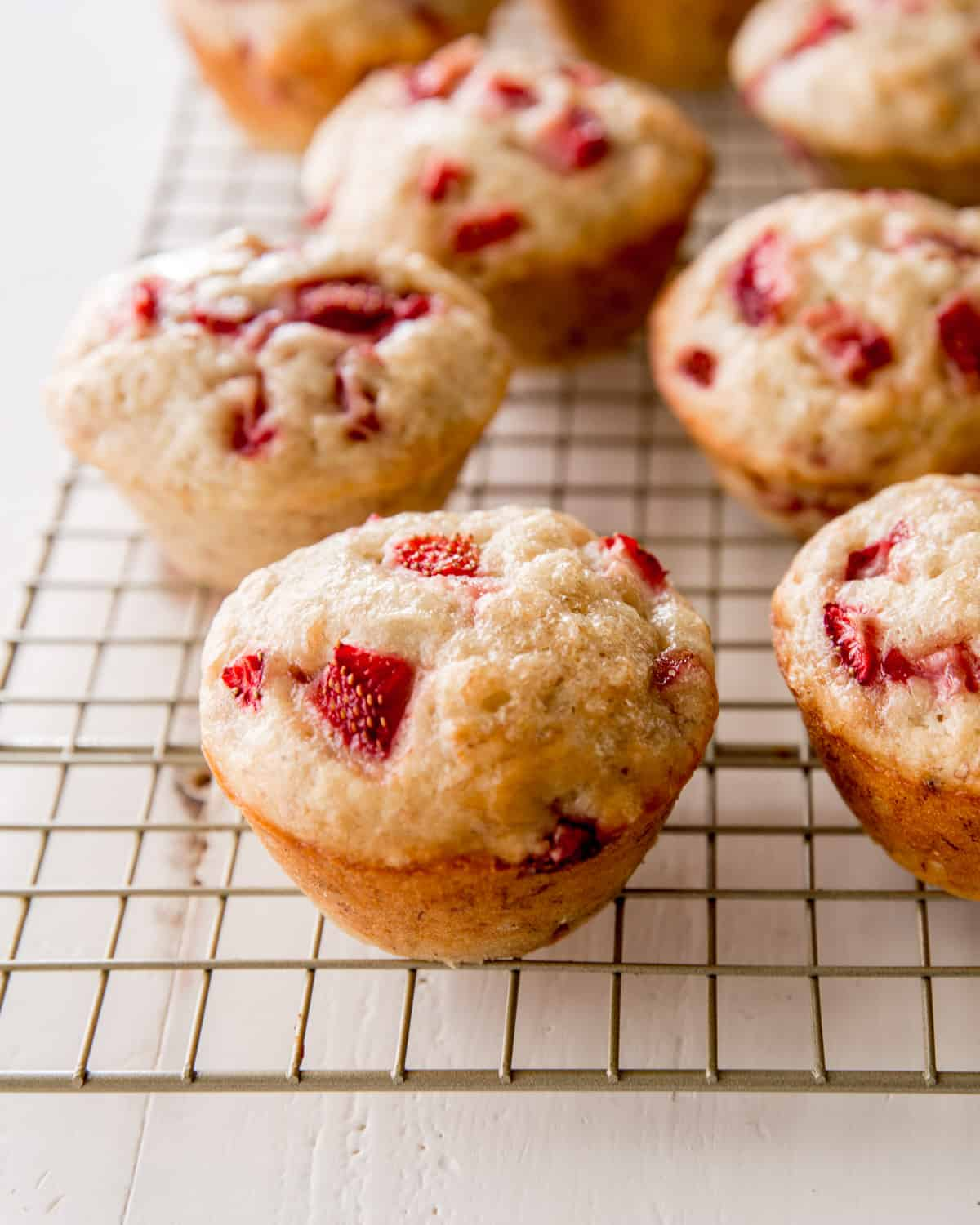 muffins on a wire cooling rack