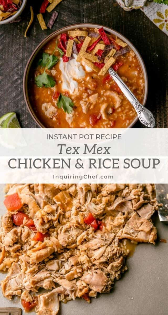 tex mex chicken and rice soup
