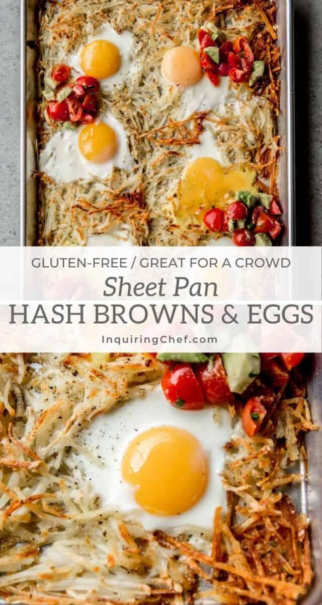 sheet pan hash browns and eggs