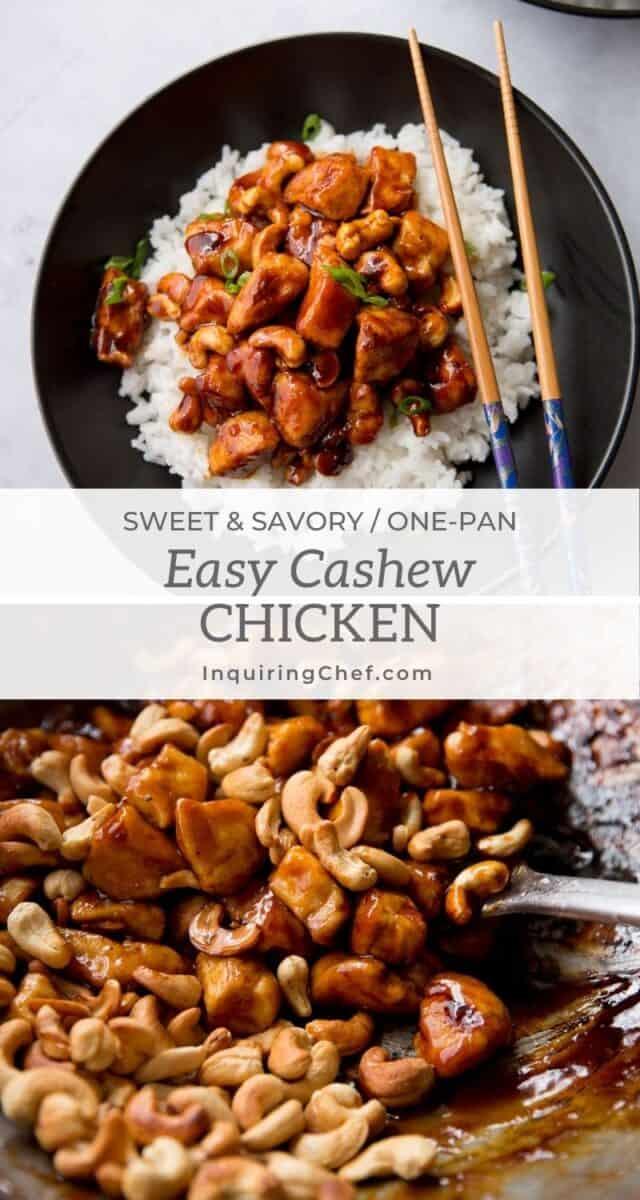 sticky cashew chicken