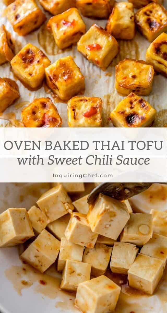 sweet thai chili baked tofu