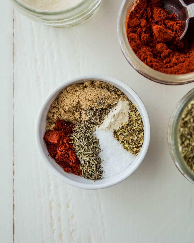 spices in a small white ramekin