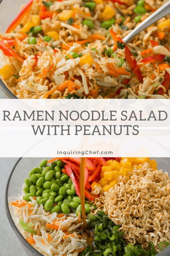 ramen noodle salad with peanuts