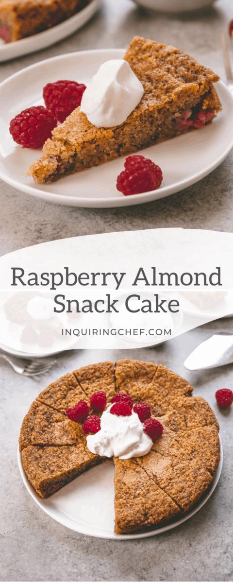 raspberry almond snack cake