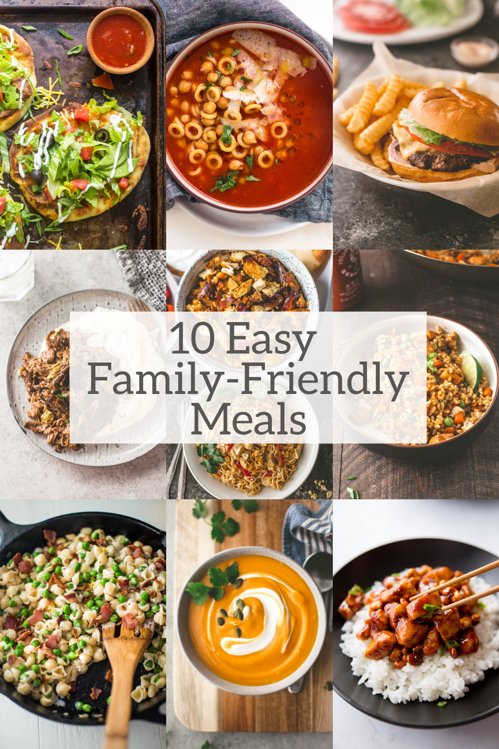 10 easy family friendly meals
