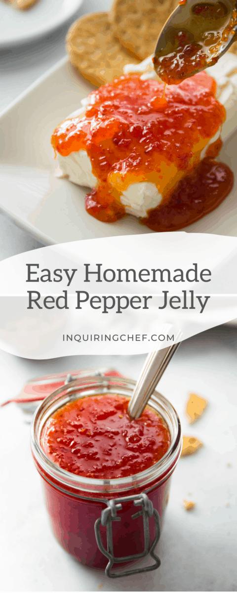 homemade red pepper jelly