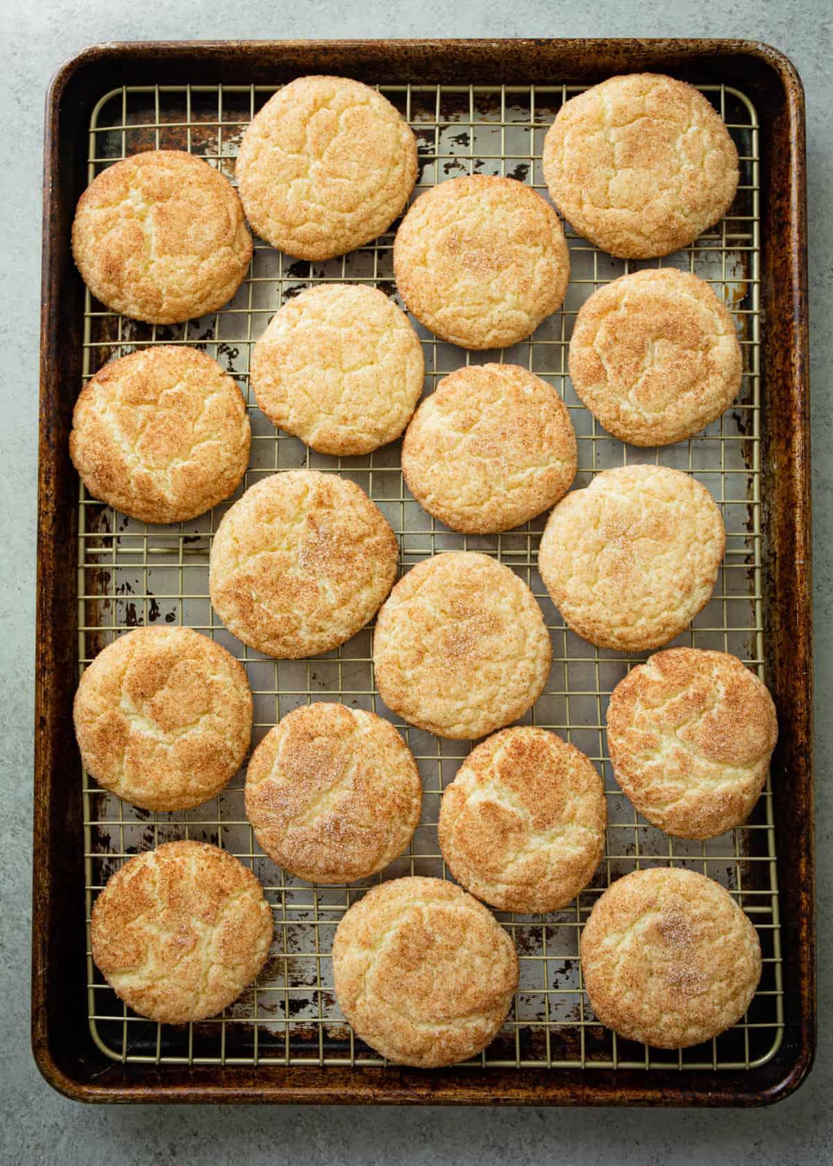 cookies on a sheet pan