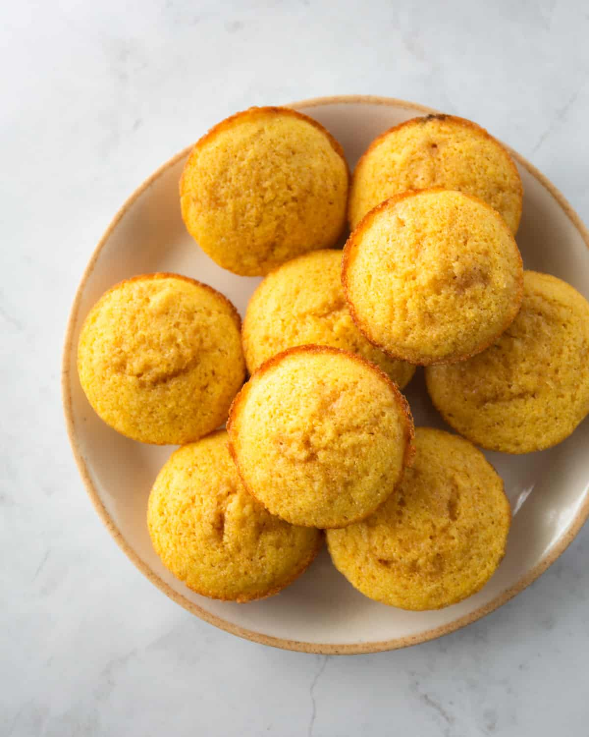 cornmeal cakes on a white plate