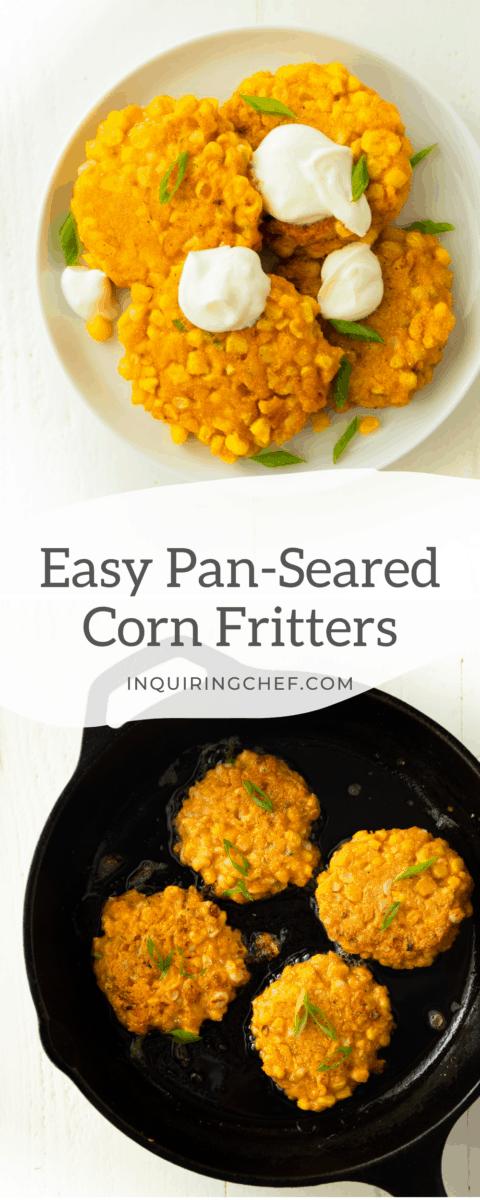 pan seared corn fritters