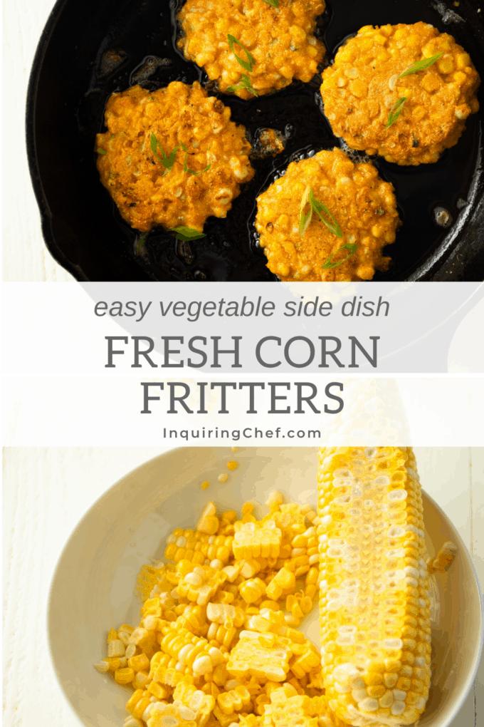fresh corn fritters