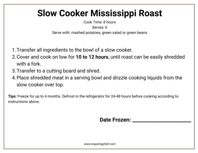 slow cooker mississippi roast