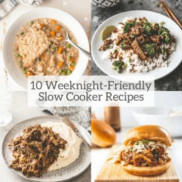 10 weeknight friendly slow cooker meals