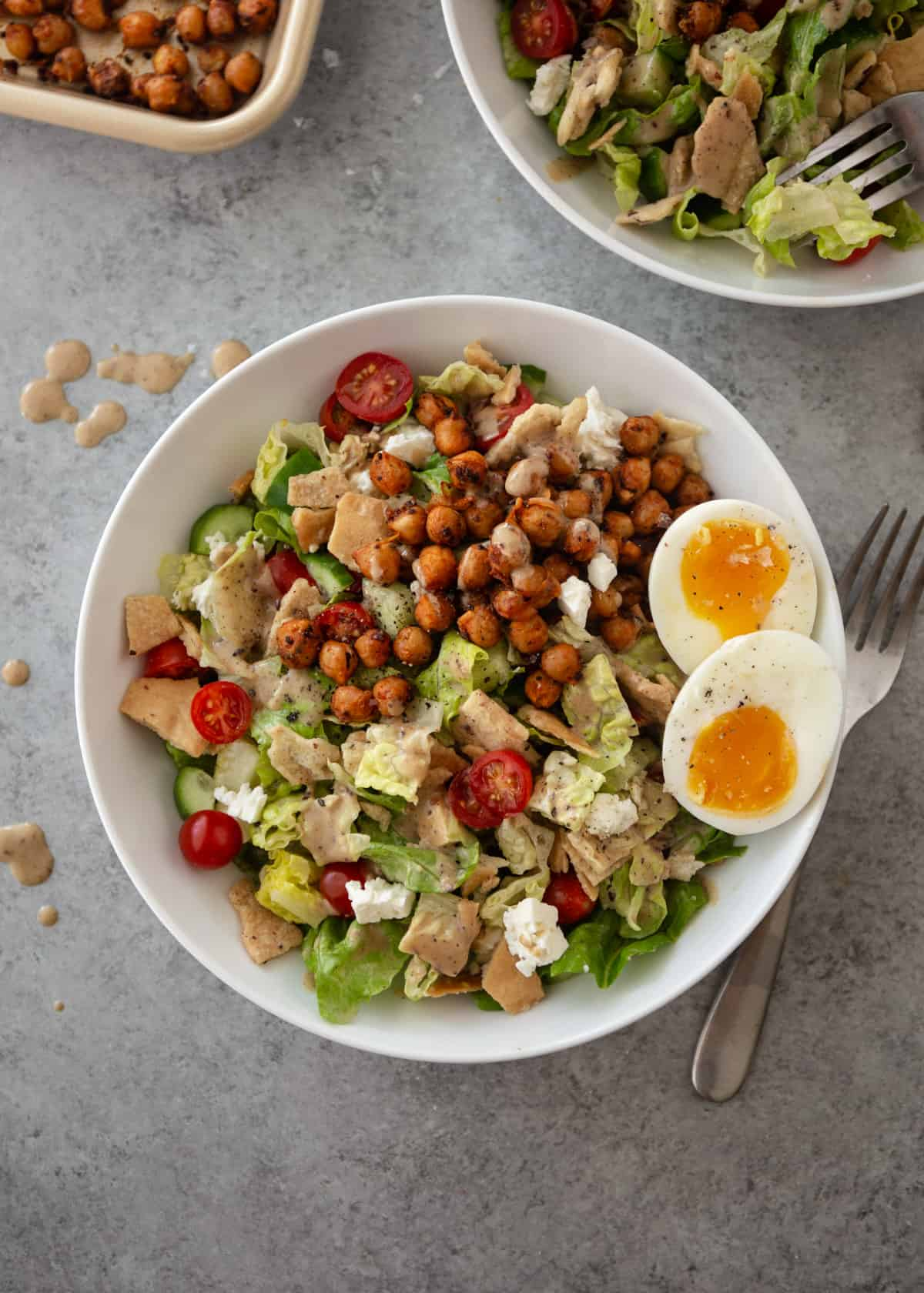 salad with boiled eggs