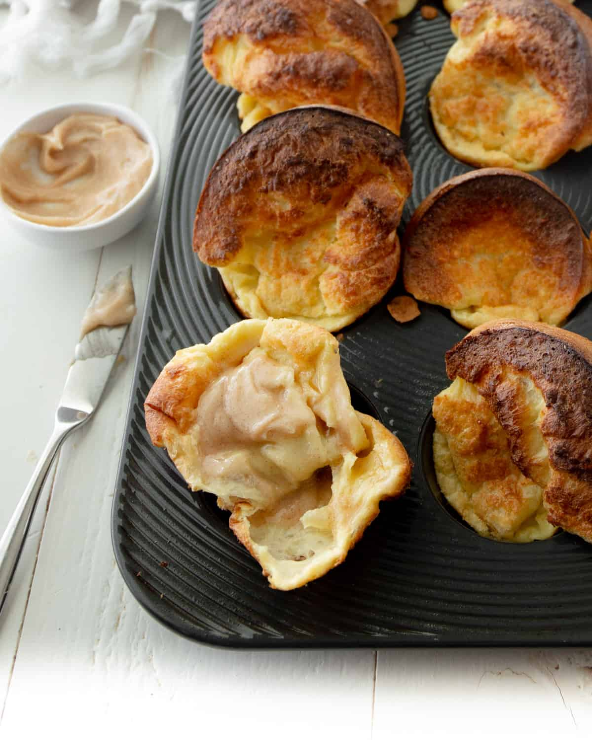 baked popovers in a muffin tin