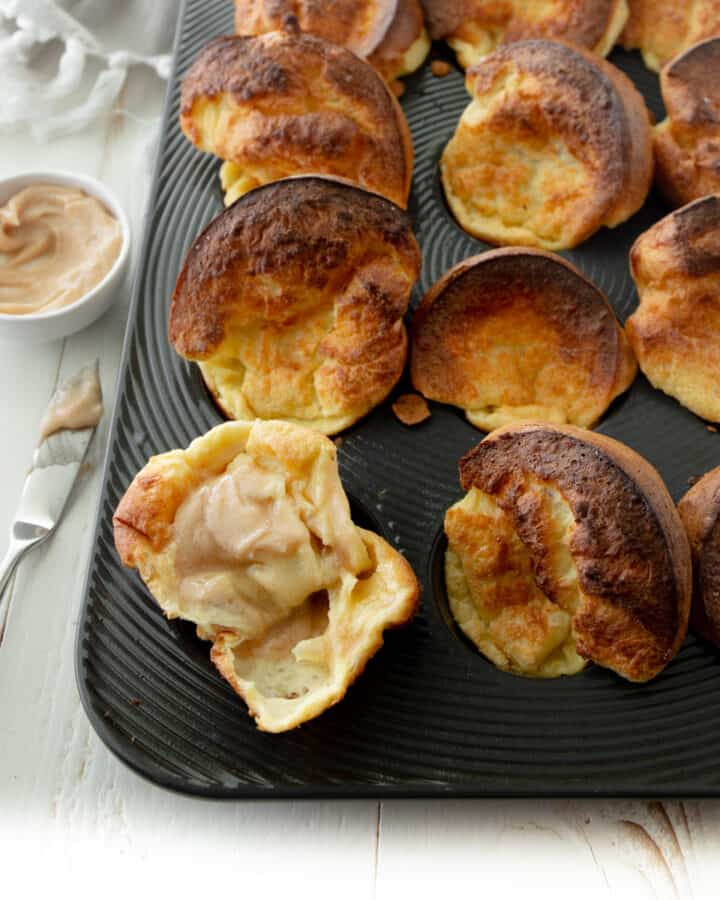 popovers in a muffin tin