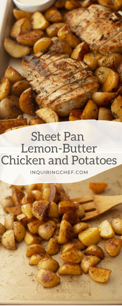 sheet pan potatoes and chicken
